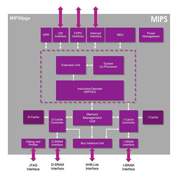 The variant of the MIPS microAptiv core that is used for MIPSfgpa